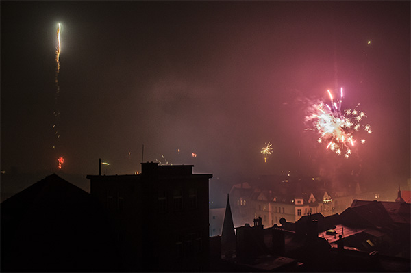 Dojo Berlin Rheinstr. feux d'artifice
